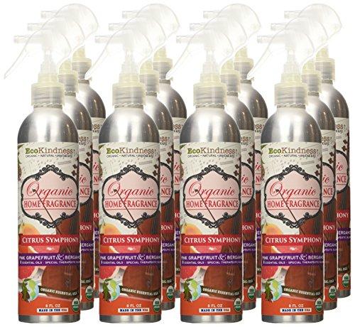 EcoKindness Organic Citrus Symphony Melody Fruit Laden Rose Home Fragrance, 8 Fl Oz (Pack of 12) by EcoKindness (Image #1)
