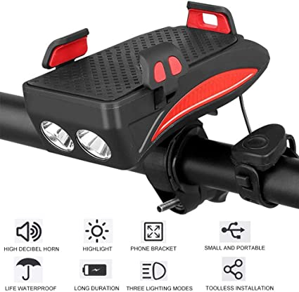 Chuhj 3 In 1 Fahrrad Licht Handy Halterung Reitfrontleuchte