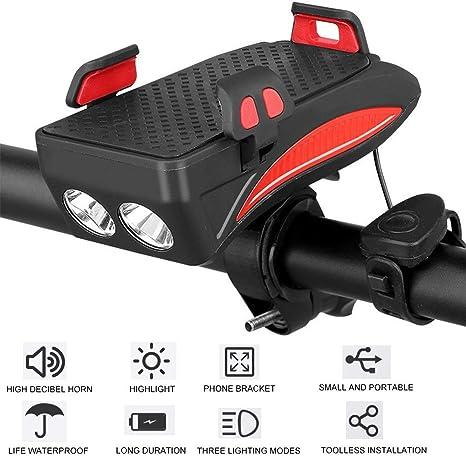 3 en 1 bicicleta de la luz del teléfono móvil de soporte for ...