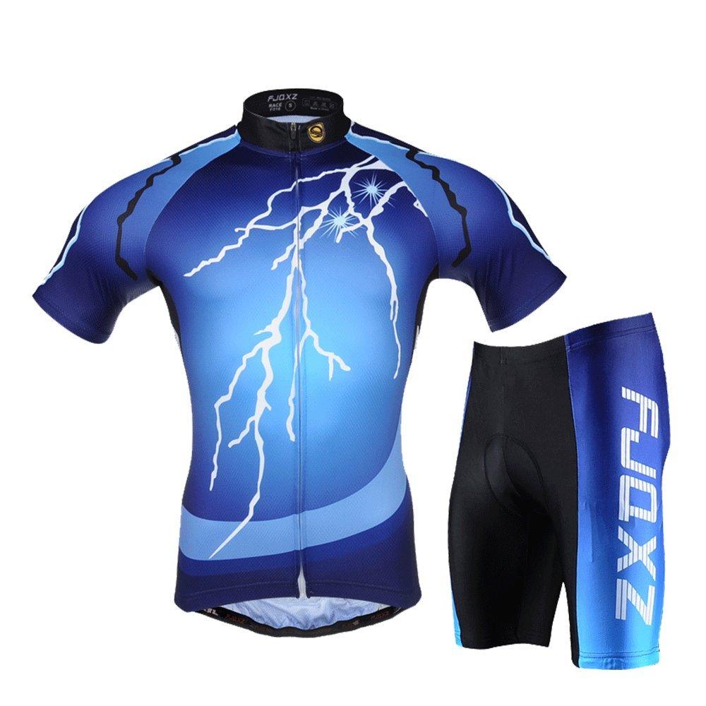 FJQXZサイクリングジャージーセットバイクサイクリングアウトドアスポーツ服半袖シャツパンツ自転車 Small  B06XV8D79J