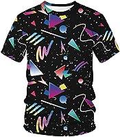 LUOYLYM-Triángulo De Impresión Digital Casual para Hombres Y Mujeres Camiseta Holgada De Gran Tamaño para Parejas Camisa De Manga Corta De Verano