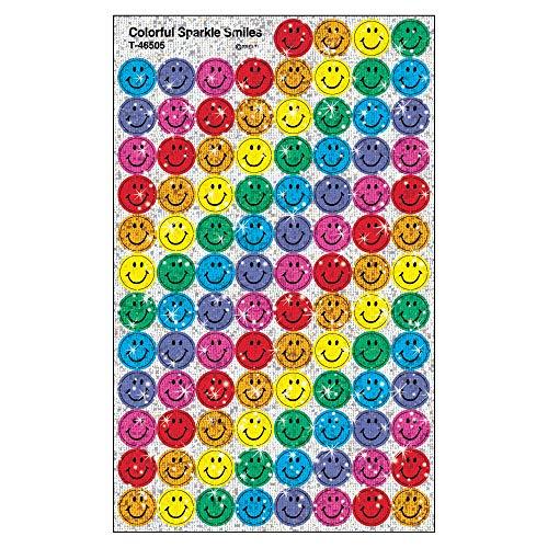 TREND enterprises, Inc. Colorful Smiles superSpots Stickers-Sparkle, 400 ct