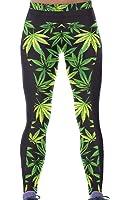 Fashion Womens Stretch Sports Yoga Pants Legging Leaves Pattern,Leaves Pattern,One Size