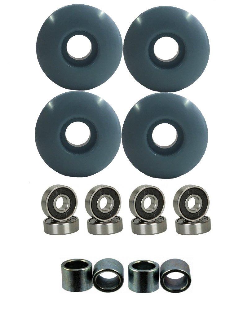 Everland 52mm Wheels w/Bearings & Spacers (Teal Grey) by Everland