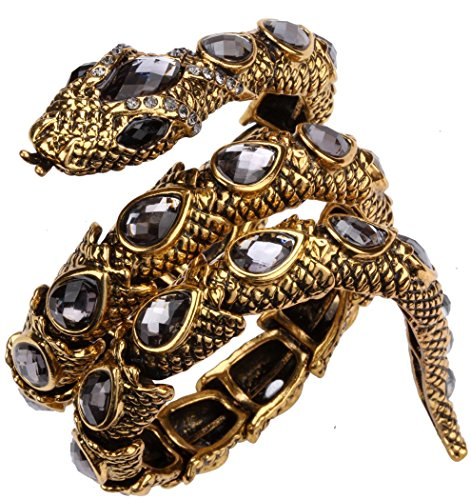 YACQ Jewelry Women's Crystal Stretch Snake Bracelet for Women Halloween Costume Outfit