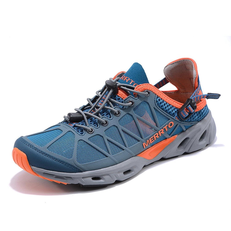 Men's Outdoor Trekking Shoes (9 Blue Orange)
