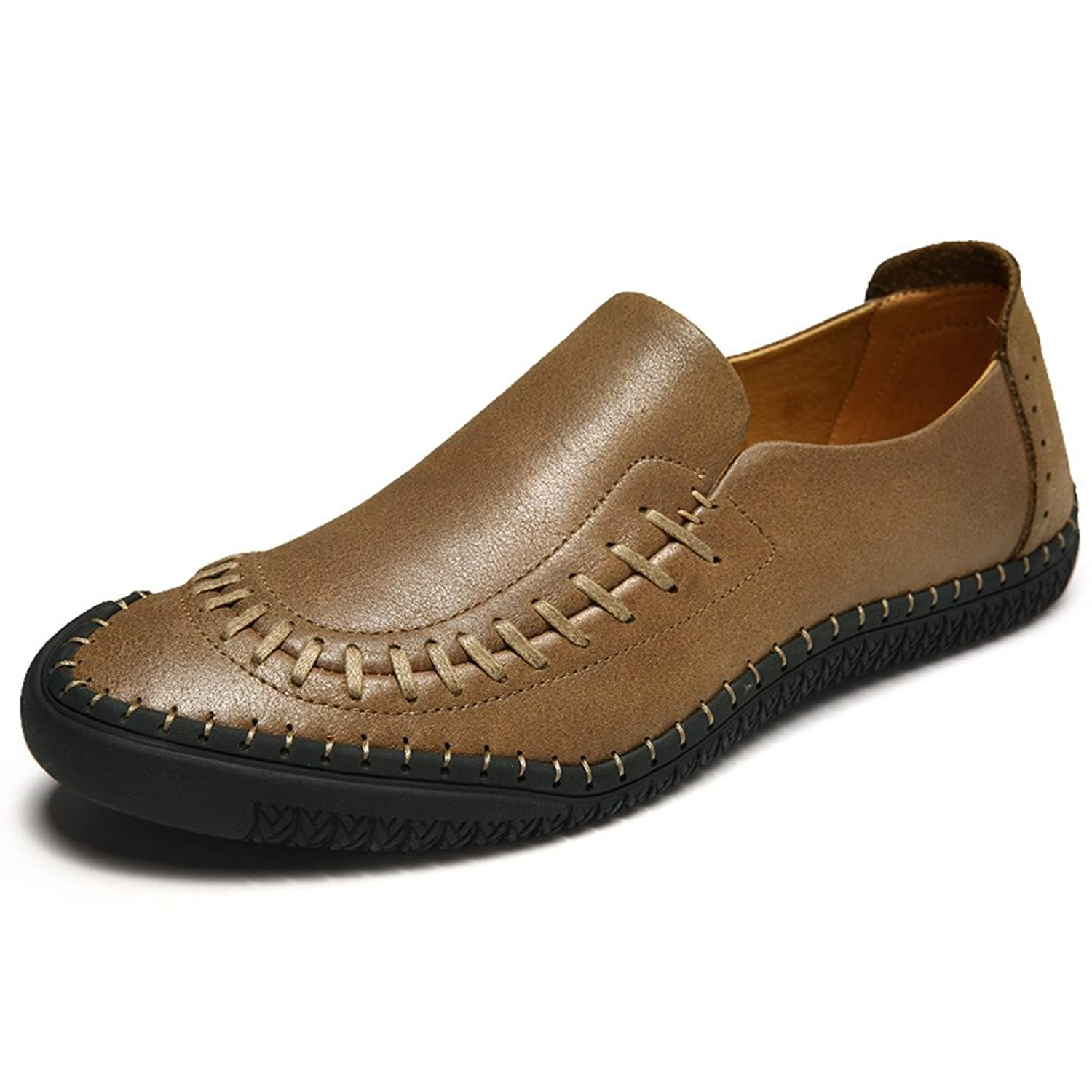 Men's Casual Handmade Slip-On Loafer Shoes Real Leather Sneaker