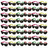 48 Pair Neon Party Toy 80's Sunglasses by Funny Party Hats