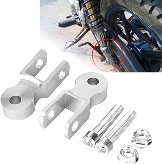Shock Extender Riser 2Pcs Universal Motorcycle Damping Heighten Device Shock Absorbers Chassis Gold 5cm No screw/