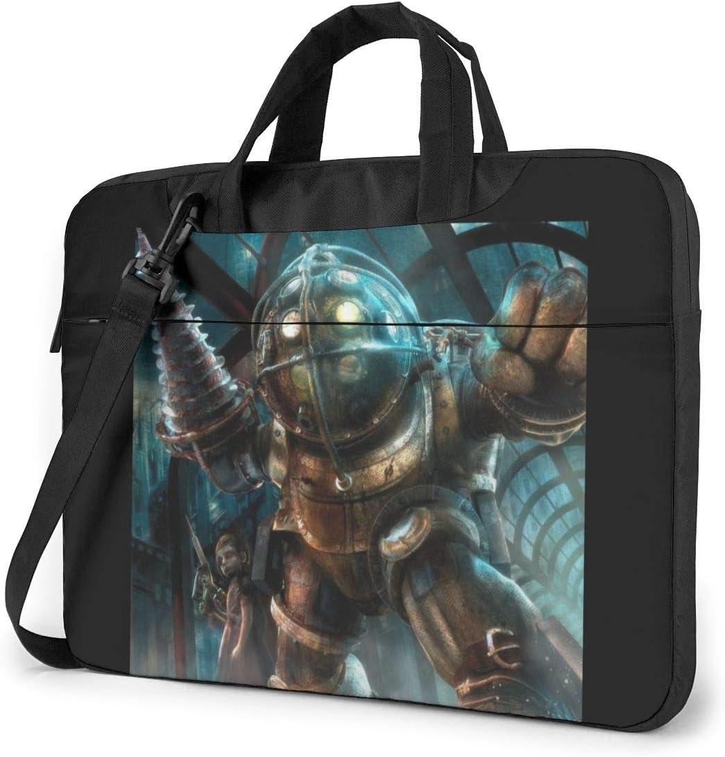 JuaoHuan Bioshock Laptop Shoulder Messenger Bag Case Briefcase Sleeve for 13 Inch 14 Inch 15.6 Inch Laptop Case 14 Inch