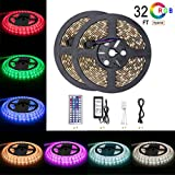 led lights changing color strip - Led Strip Light Waterproof 600leds 32.8ft 10m Waterproof Flexible Color Changing RGB SMD 5050 600leds LED Strip Light Kit with 44 Keys IR Remote Controller and 12V 5A Power Supply