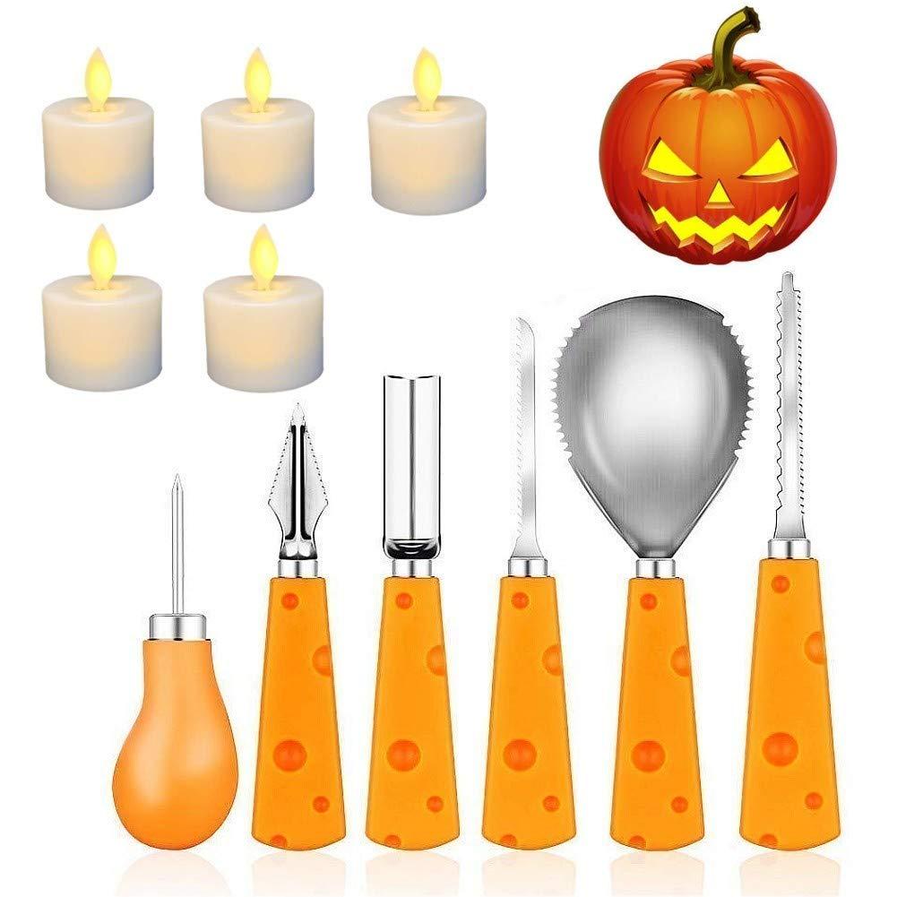 Keepack Pumpkin Carving Kit - 11 Pieces Pumpkin Carving Kit Heavy Duty Stainless Steel Halloween Pumpkin Carving Tools,Professional Pumpkin Carving Kit by Keepack