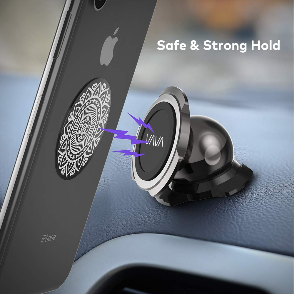 Replacement Plates for Magnet Phone Holder Strong Stickiness Wide Compatibility TaoTronics Metal Plate 4 Pack