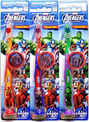 Marvel Avengers Children's Tooth Brush (Pack of 3) - Toothbrush Designs Vary - Premium Quality (Avengers 3 pk)