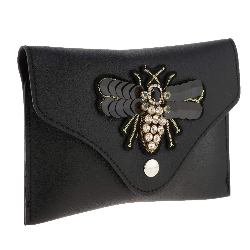 abb1830b391f Amazon.com: Homyl Women Mini Waist Pack 3D Bee Embroidery Fanny Pack ...