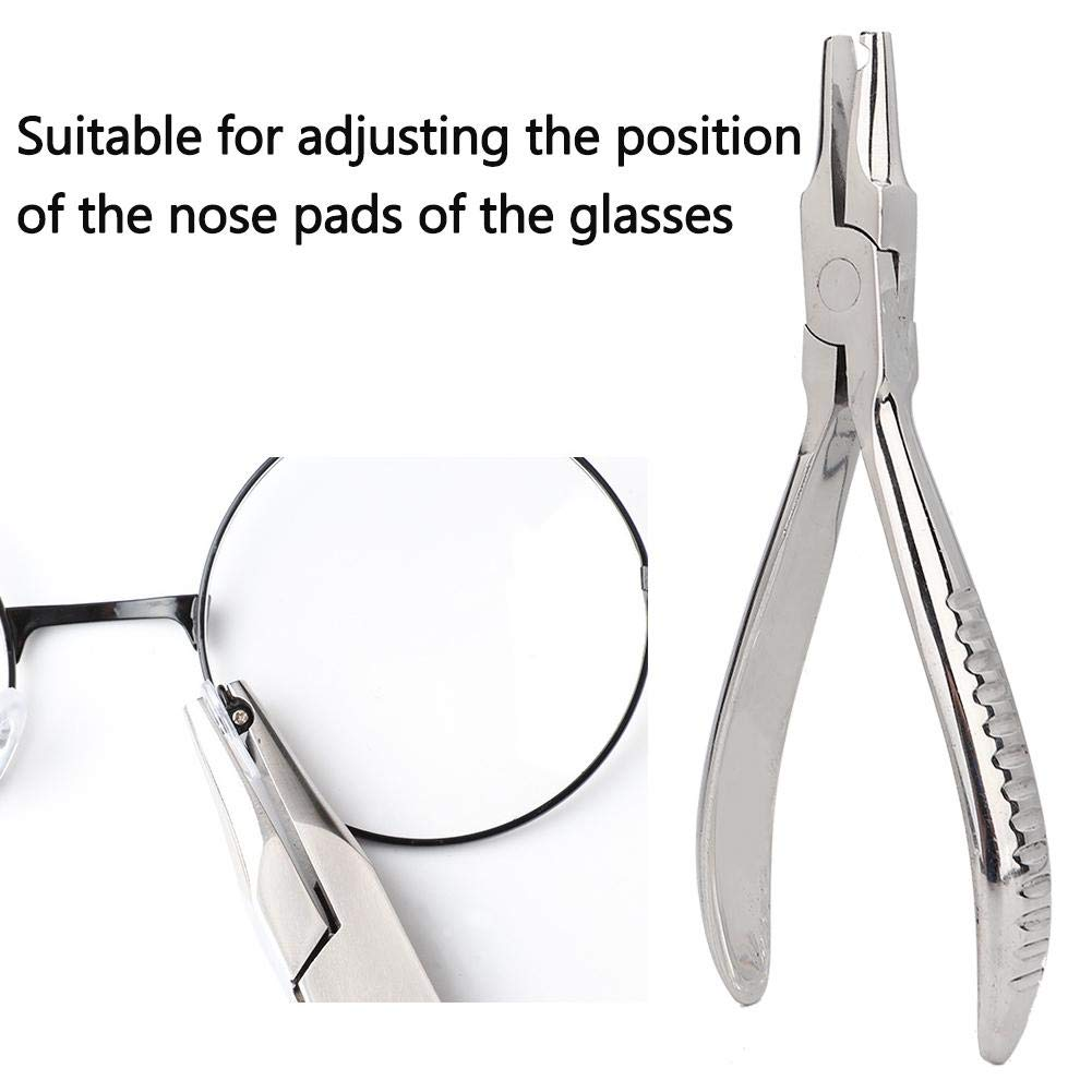 Groove Design Non Slip Eyeglasses Nose Pad Clamp Suitable for Adjusting the Position of the Nose Pads of the Glasses Nose Pad Arm Adjuster Plier