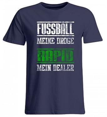 Shirtee Fußball Meine Droge Rapid Mein Dealrer Grün