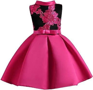 K-youth® Estampado Princesa Vestidos Niña sin Mangas Calado ...