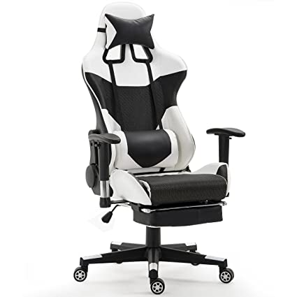Giantex Gaming Chair Race High Back Racing Style Reclining with Lumbar Support Headrest and Footrest  sc 1 st  Amazon.com & Amazon.com: Giantex Gaming Chair Race High Back Racing Style ...