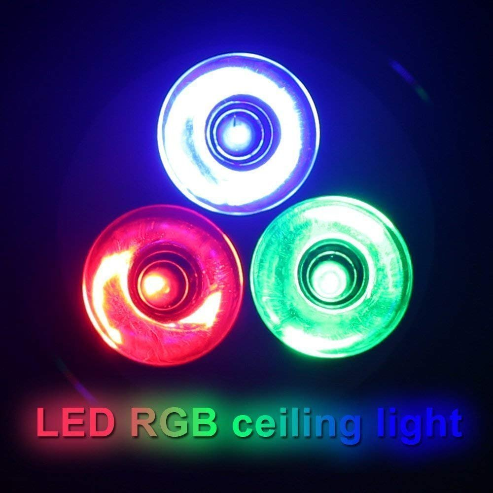 reputable site 05b48 31c6d RGB Ceiling Light by QINGYA,3 W Color Changing Recessed ...