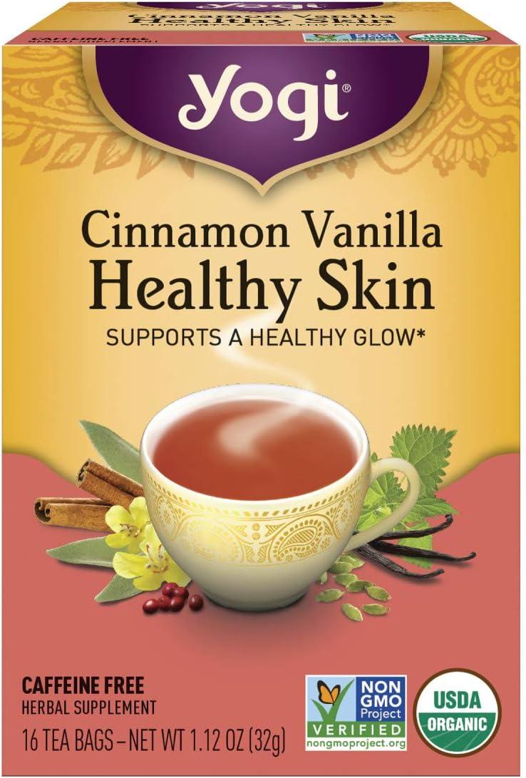 Yogi Tea, Cinnamon Vanilla Healthy Skin, 16 Count: Health & Personal Care