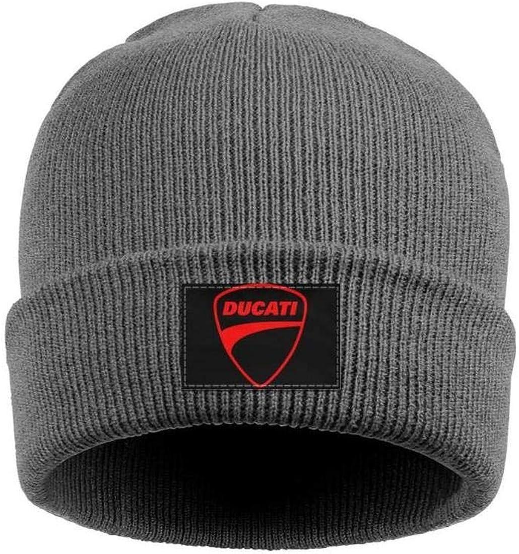 Wool Beanie Cap Knit Caps Fine Knit Beanie HatsSki Warm Mens Ducati-Motorcycle-Logo