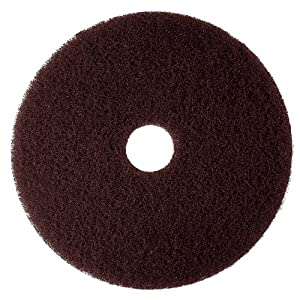 "3M Brown Stripper Pad 7100, 12"" Floor Stripper Pad (Case of 5)"