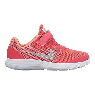 NIKE Kids' Revolution 3 (Psv) Running-Shoes, Racer Pink/White