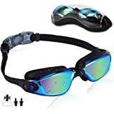 Rapidor Swim Goggles for Men Women Teens, Anti-Fog UV-Protection Leak-Proof, RP905 Series Multiple Choices