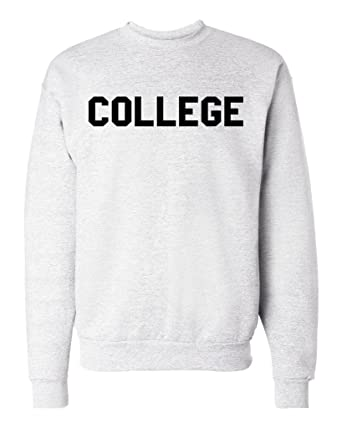9b5642d02978 Amazon.com  College Unisex Mens Womens Crewneck Pullover Sweatshirt   Clothing