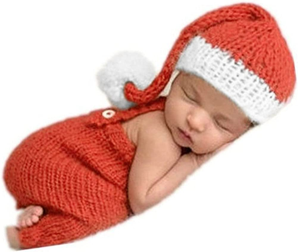 Newborn Baby Girls Boys Crochet Knit Costume Photo Photography Prop Hats Outfits