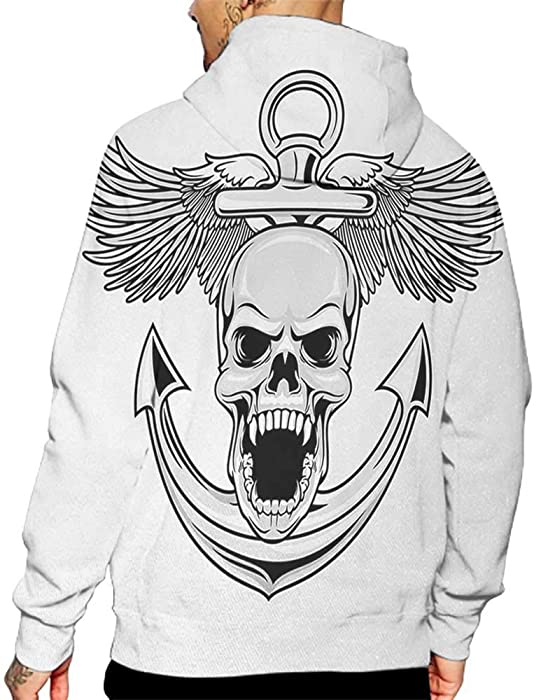 a37f9022d Amazon.com: Unisex 3D Novelty Hoodies Anchor,Skull with Anchor and ...