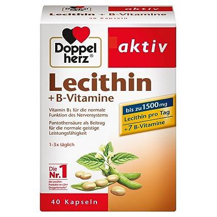Doble Corazón lecitina/Suplemento nutricional con Vitamina B1, B2 y B6 como contribución a