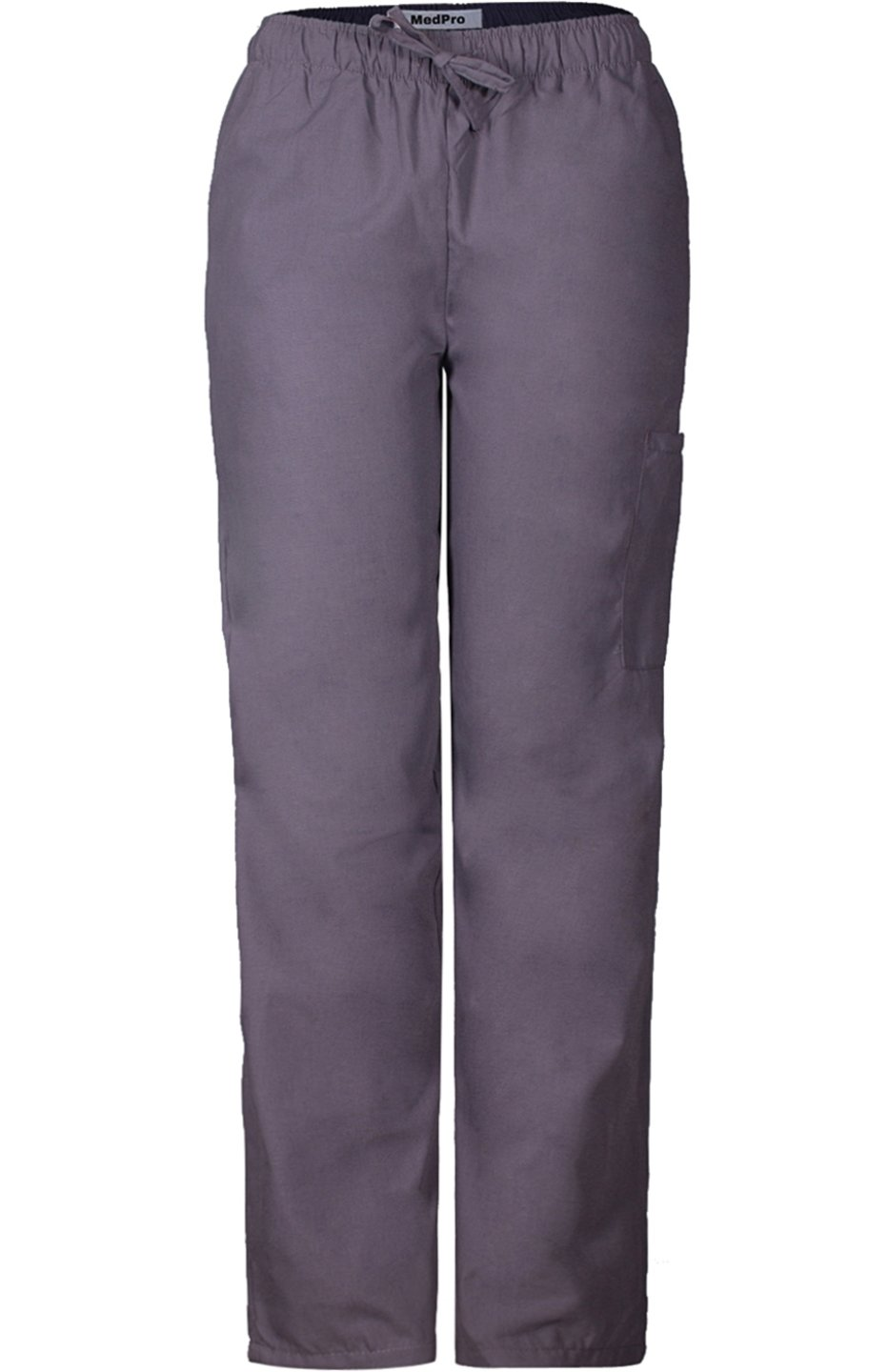 MedPro Women's Medical Scrub Set with Printed Wrap Top and Cargo Pants Purple Grey XL by MedPro (Image #4)