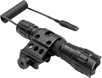 Tactical 500 Lumens GREE LED Flashlight White Light 20mm Picatinny Rail F Rifle