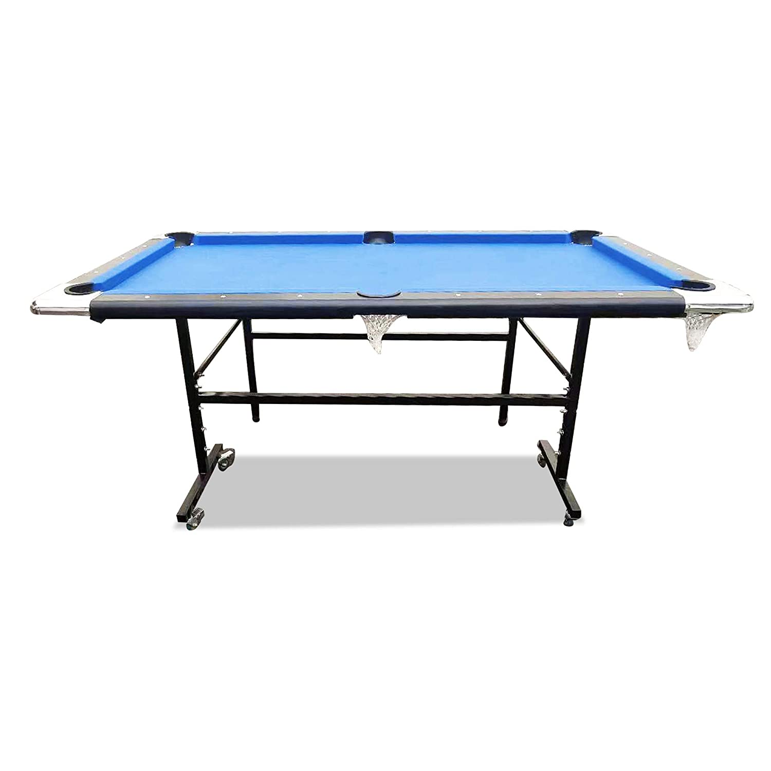 Stupendous Tr Sports 6 Ft Pool Table Timber Foldable Billiard Table Childrens Fold Away Snooker Table Easy Storage Space Saver Game Table With Free Accessories Beutiful Home Inspiration Xortanetmahrainfo