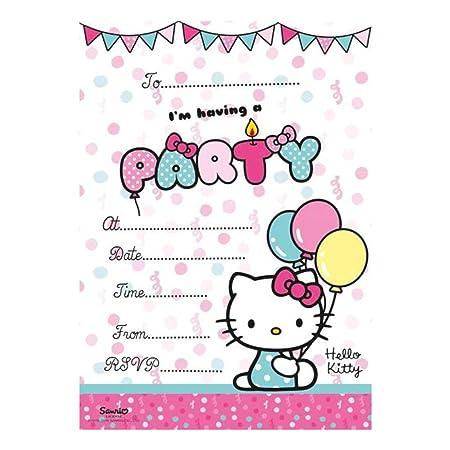 Hello Kitty Invites Party Invitation Cards Amazon Co Uk Kitchen