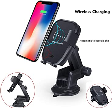 ANKIA Wireless Charger Car Phone Mount,One Touch Design Qi Fast Charging Car Mount with Air Vent Phone Holder for Qi Enabled Devices,Samsung Galaxy S8