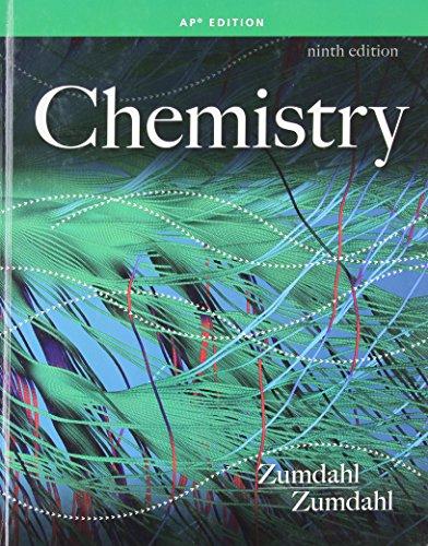 Chemistry (AP Edition) -  Zumdahl/Zumdahl, 9th Edition, Hardcover