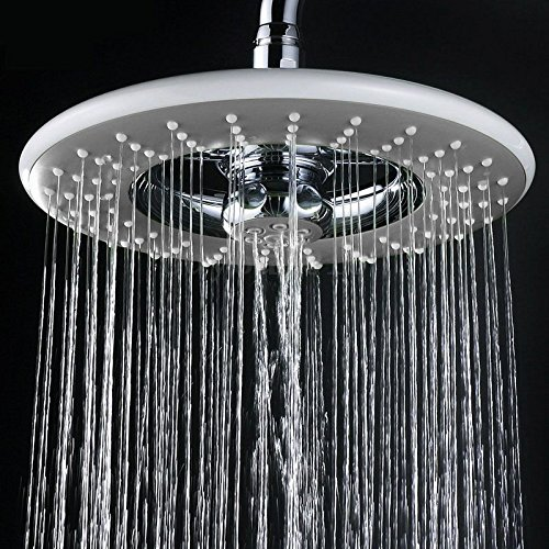 10X 8 Inch 2 Functions Waterfall Shower Head AirShower, for a Luxury SPA Experience High Flow Rainfall   Grey Color