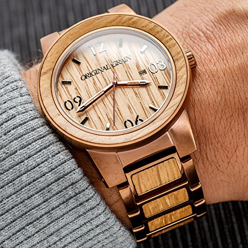 watch og barrel giona rakuten gise leather en men originalgrain espresso global item black whiskey original store market brown wood grain clock watches band juju the