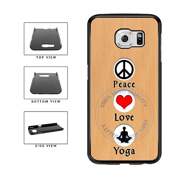 Amazon Bleureigntm Peace Love Yoga Plastic Phone Case Back
