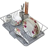 HOME CUBE® Stainless Steel Dish Rack Over Sink with Spoon Holder Utensil Drainer Functional Drying Organizer Vegetable Fruit Drainer.