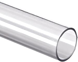 "Polycarbonate Tubing, 1 7/8"" ID x 2"" OD x 1/16"" Wall, Clear Color 24"" L"
