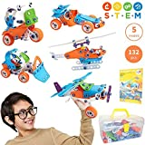 STEM Toys for Boys and Girls   Fun Educational Engineering Toys for 7 8 9 10+ Years Old   Creative STEM Learning Building Blocks Set   132 Pcs Kit with Box   Best Toy Gift for Kids 8-12 Years Old