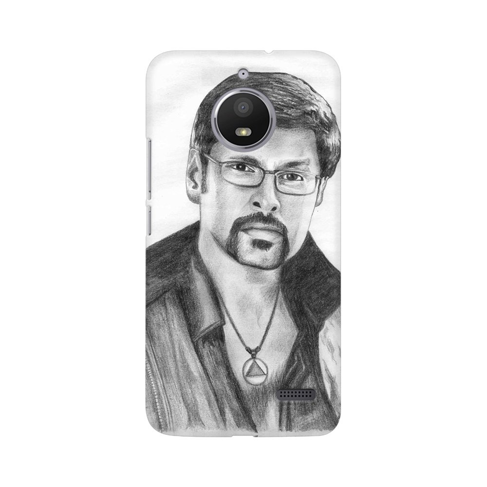 Mobicture actor vikram artworked with pencil sketch amazon in