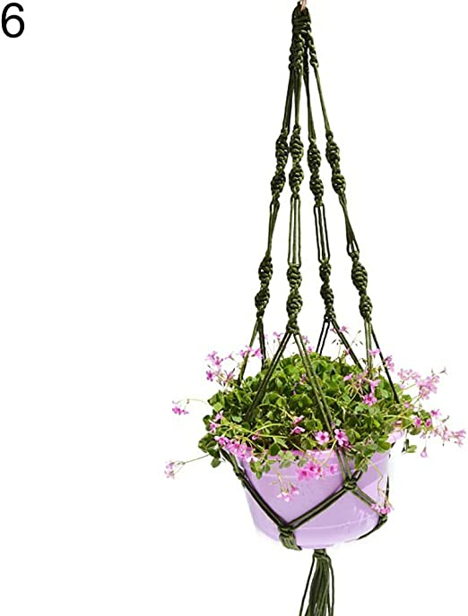 """39.37/"""" Colorful Hanging Rope Plant Pot Holder Indoor Outdoor without Flowerpot"""