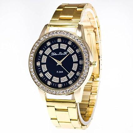 Reloj Para Mujer,Feixiang ♈Relojes Unisex Reloj De Pulsera De Cuarzo Relojes De Acero