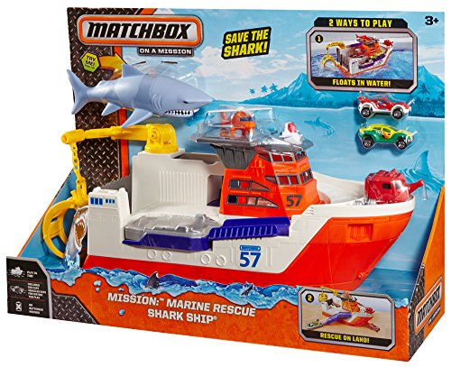 Shark Toys And Games : Matchbox mission marine rescue shark ship discontinued