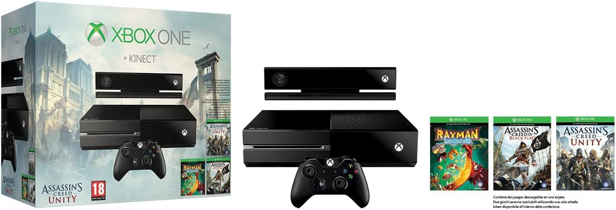 Microsoft 500GB Xbox One Bundle - juegos de PC (Xbox One, 8192 MB, DDR3, Blu-Ray, 500 GB, 10,100,1000 Mbit/s): Amazon.es: Videojuegos
